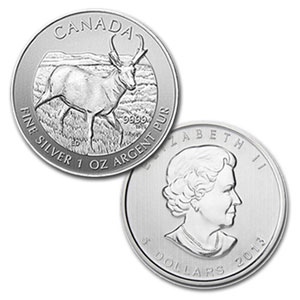 2011-2013 Canada 5-Coin 1 oz Silver Wildlife Series Set BU